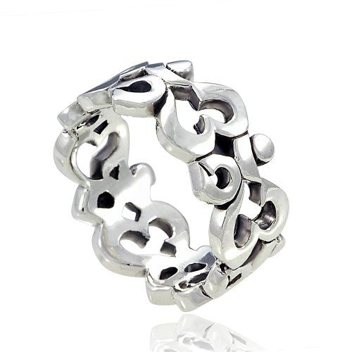 925 Sterling Silver Om Ohm Aum Symbolic High Polished Finish Band Ring for Women Size 7 – Nickel Free | Your #1 Source for Jewelry and Acces...