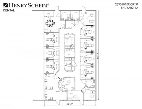 Henry Schein - National Design Group - Sample Floor Plan Gallery - sample plan