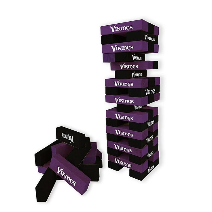 Officially Licensed NFL Table Top Stackers - Vikings