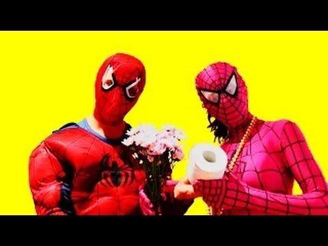 Человек - паук и Девушка - паук  в реальной жизни  ϟ   Кулинария и туалет !