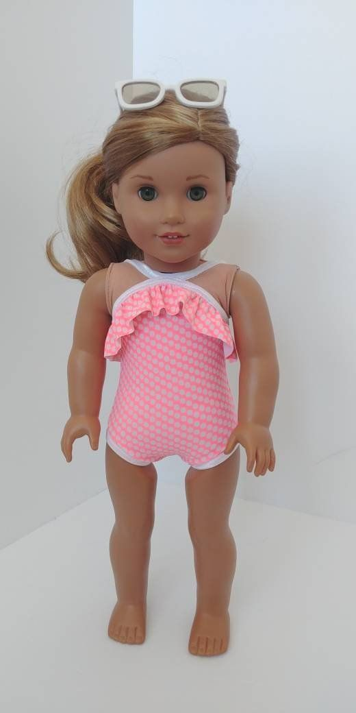 Doll Swimsuit For 18 Inch Doll Fits Like American Girl Doll Clothing 18 Inch Doll B Our Generation Doll Clothes Doll Clothes American Girl American Girl Doll