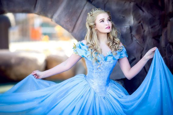 Disney Cinderella cosplay ready to ship dress and wig