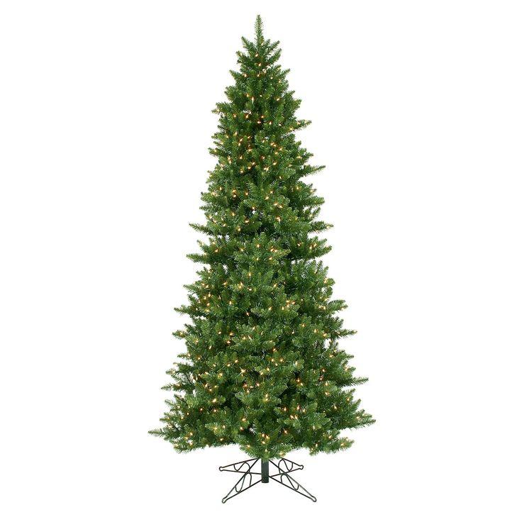 Vickerman 8.5-ft. Clear Pre-Lit Camden Fir Slim Artificial Christmas Tree, Green