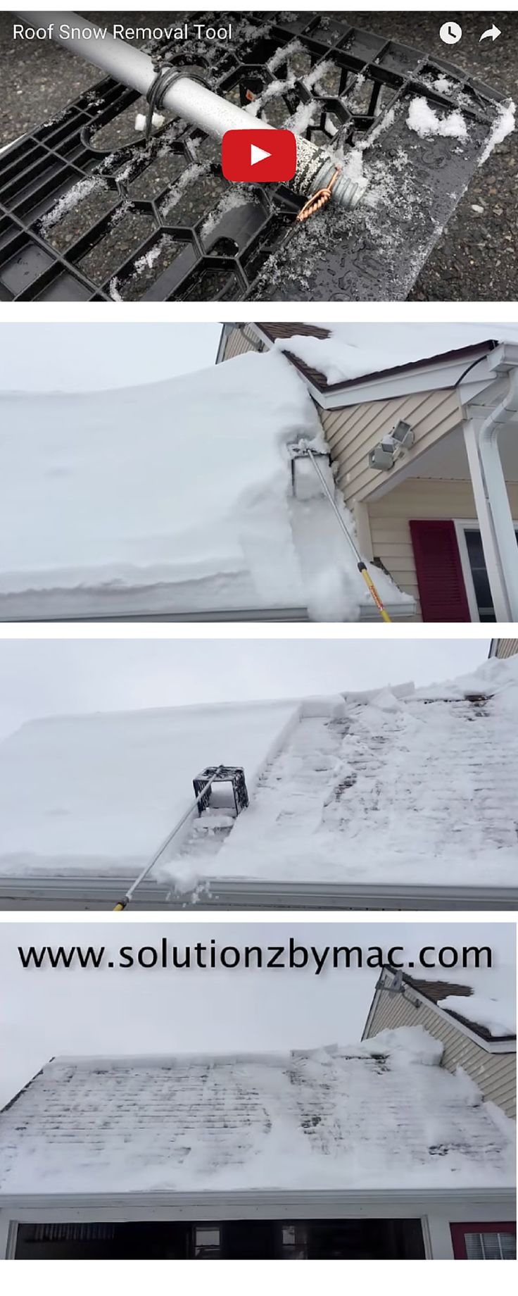 This is a home made roof snow removal tool that is made