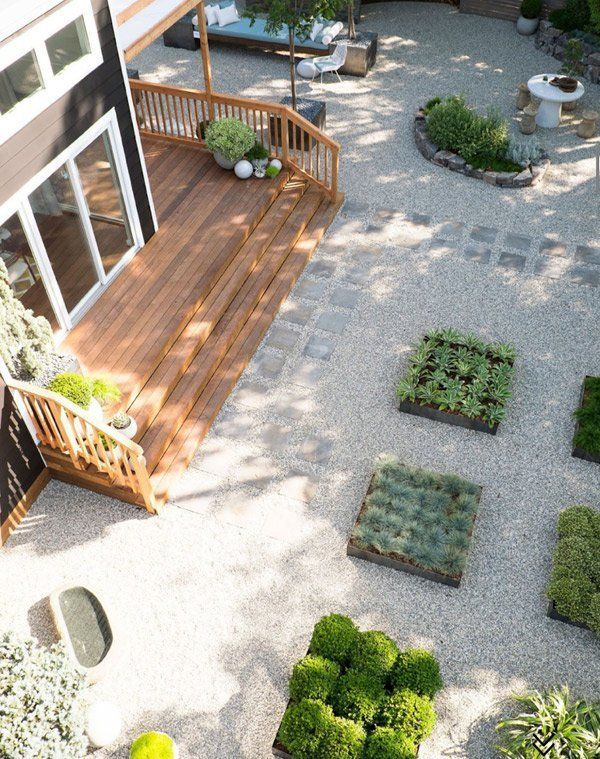 10 grassless yards that will make you re think having a for Grassless garden designs