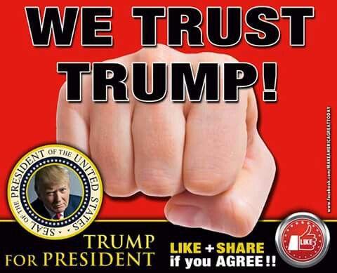 We Trust Trump! He's honest, self-funded, and he loves America! #DonaldJTrump46thPresidentOfTheUSA   #Ain'tNoStoppingUsNow  #AllTheWaytoWashington