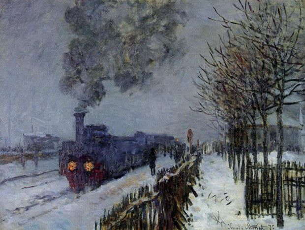 Claude Monet, The Train in the Snow, 1875, Musée Marmottan, Paris.
