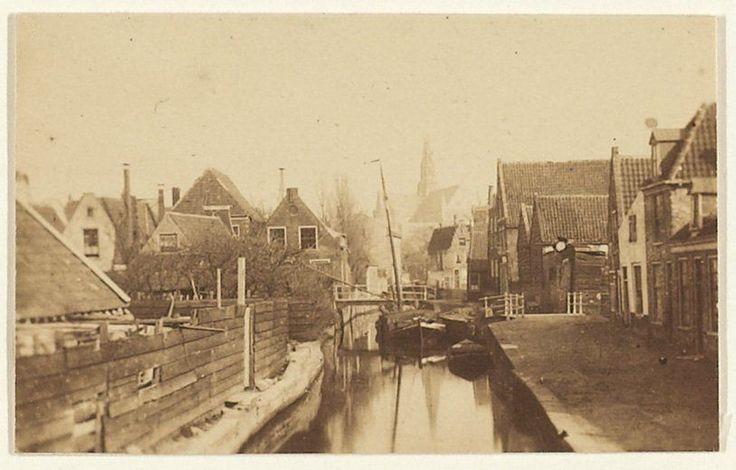 De nog niet gedempte Raaks. Foto 1859 Fotograaf: Adolphe Braun