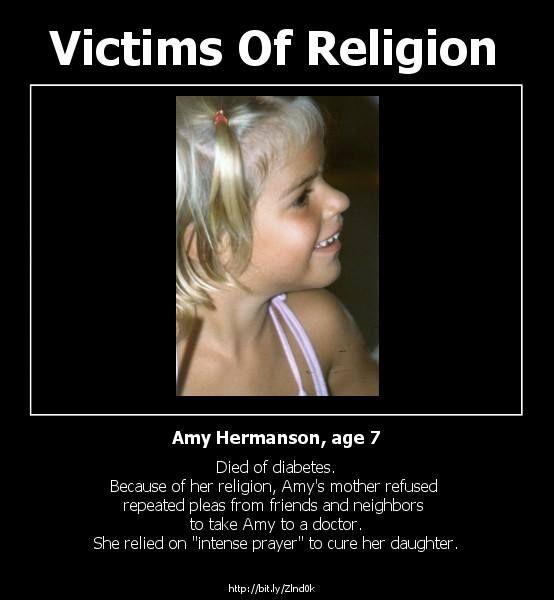 The power of prayer... :/ - http://holesinthefoam.us/victimsofreligion/