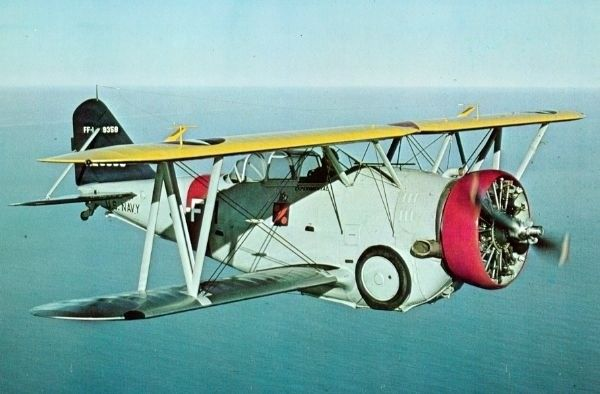 The Goblin Was The First Of A Long Line Of Naval Fighters Built By Grumman Aircraft Corporation To Be Put In Service By Airplane History Navy Carriers Biplane
