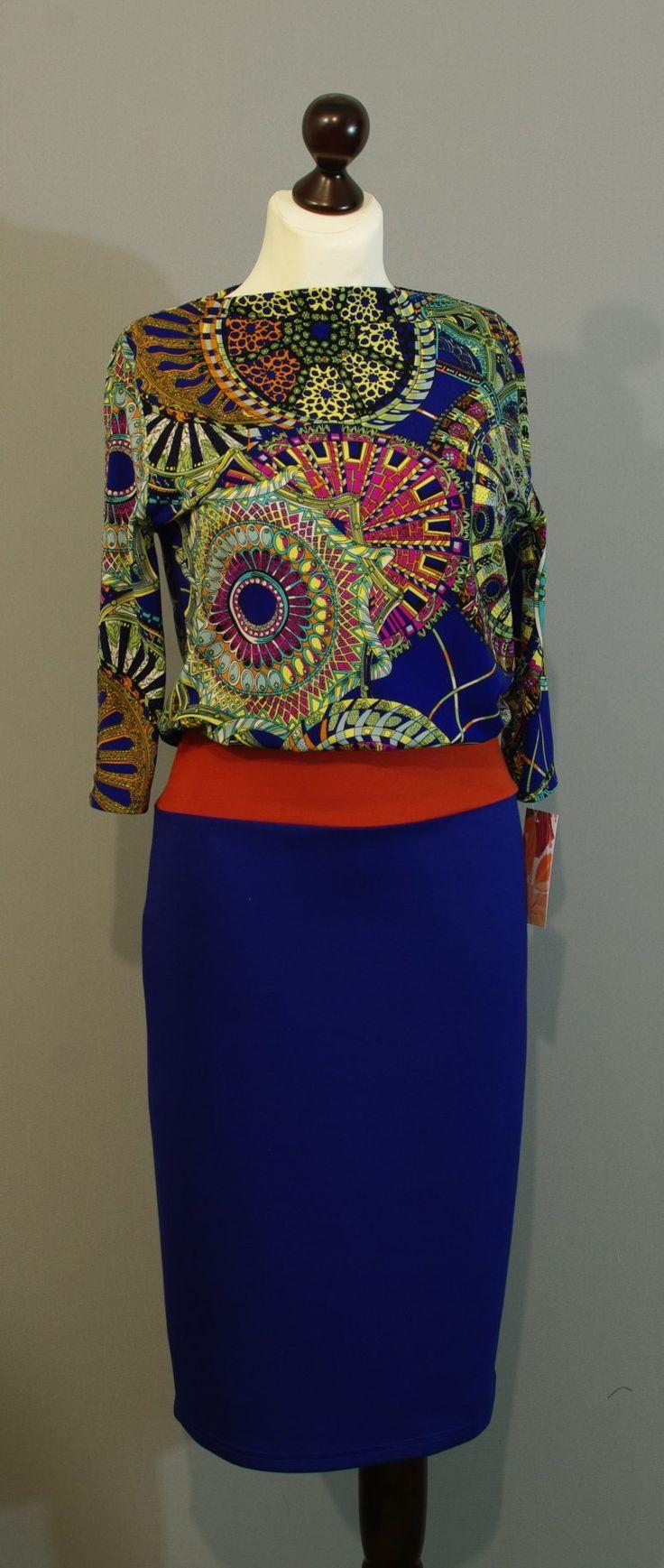 Теплое платье цвета индиго от дизайнера Юлии, Платье-терапия Киев (36)