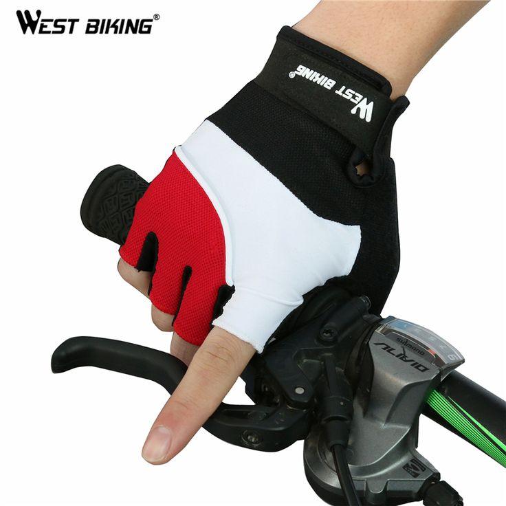 West bikingオリジナルブランドmtb指なしフィットネスguantesゲル自転車バイクluvas bicicletaパラciclismoスポーツサイクリング手袋