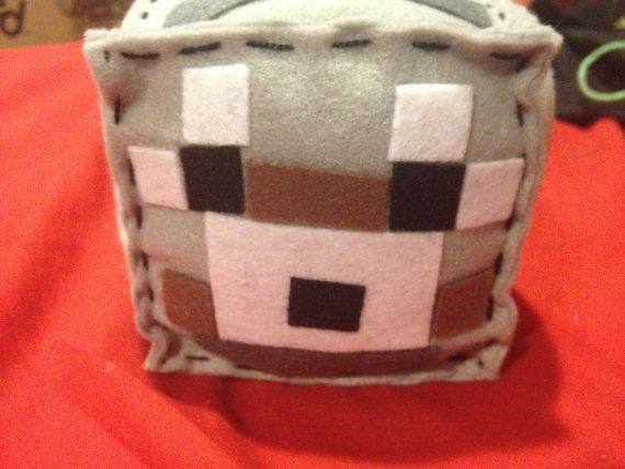 Minecraft inspired plush cube  wolf by youreahoot on Etsy