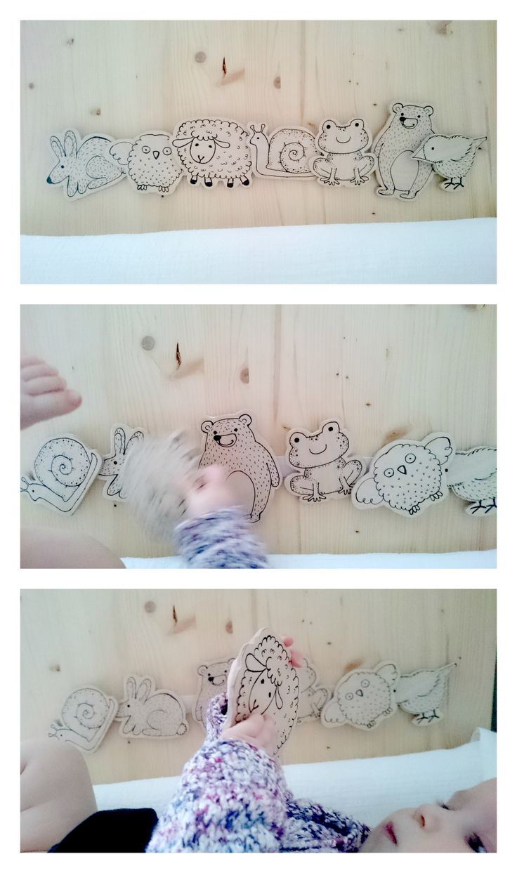 Our new company #plywood animals attached with Velcro fastener