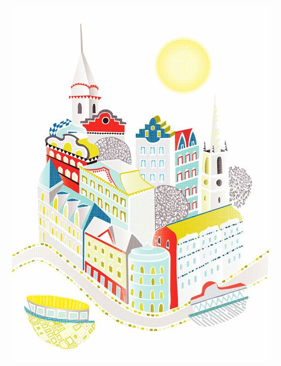 Stockholm Sweden City Art Print by lauraamiss on Etsy
