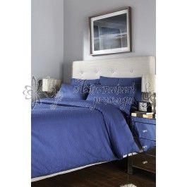 Behrens Herringbone albastru - lenjerie de pat de lux 2 persoane