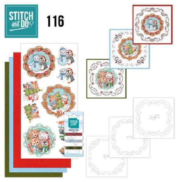 Broderie kit cartes 3D à broder Stitch and do thème Noel , 3