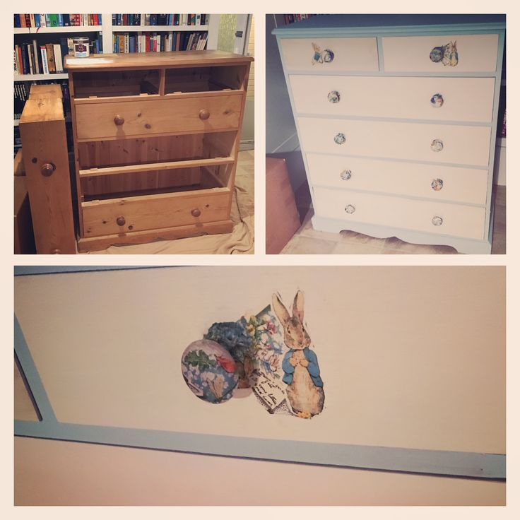 Peter Rabbit chest of drawers for baby nursery