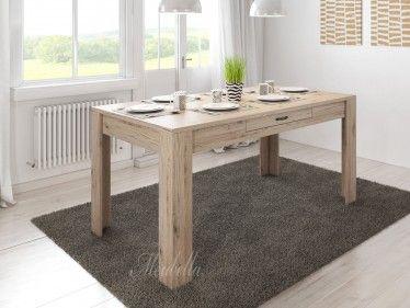 Eetkamertafel Marine is een eetkamertafel die geschikt is voor 4 tot 6 personen. De tafel is 160 cm en is 90 cm breed. In het midden van het blad is in de zijkant een opberglade geplaatst.