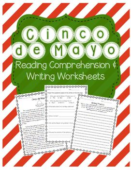 This is a reading comprehension passage about Cinco de Mayo. It includes the history of Cinco de Mayo and why Cinco de Mayo is celebrated. The passage is accompanied by a Cinco de Mayo comprehension worksheet (multiple choice and short answer) and a Cinco de Mayo writing prompt.Great for celebrating Cinco de Mayo with your elementary students!Can be used as classwork or homework.If you enjoyed this Earth Day product, be sure to check out other items available in my store!
