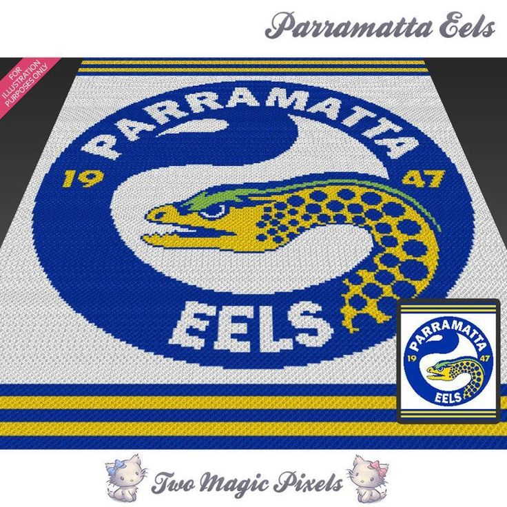 Looking for your next project? You're going to love Parramatta Eels C2C Crochet…