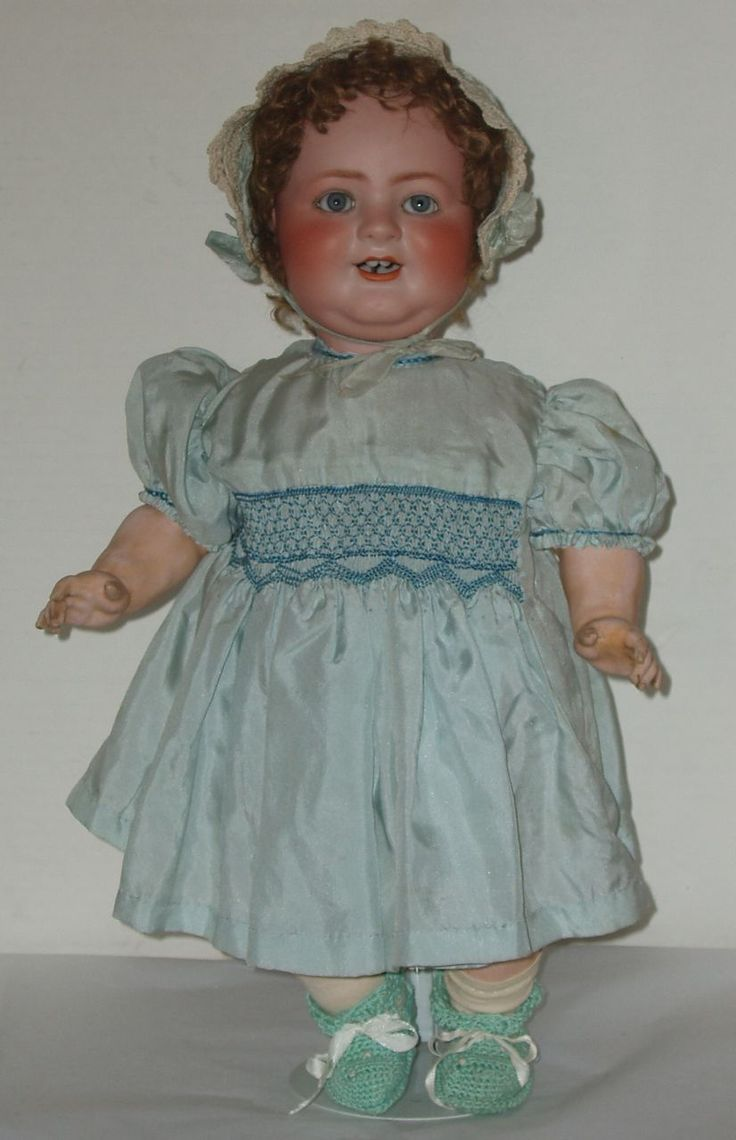 """20"""" German Bisque Head """"Das Lachende Baby"""" By Schoenau and Hoffmeister from fantastiques on Ruby Lane"""