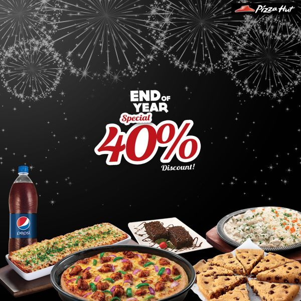 So what if Black Friday has passed, PIZZA HUT, BURGER KING and TGI FRIDAYS are giving you 40% discount for an entire month of December on selected bank's cards.