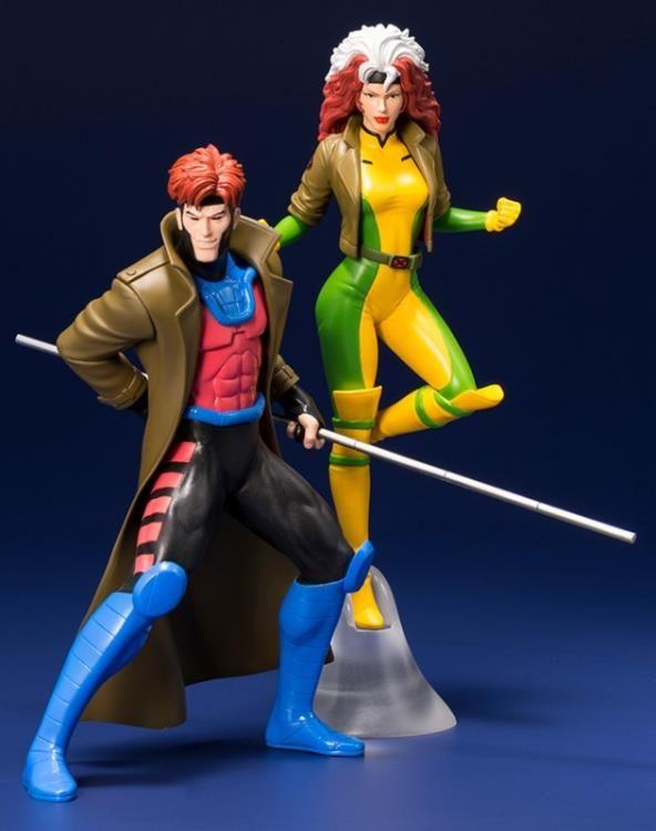 X Men 92 Artfx Gambit Rogue Statue Two Pack By Kotobukiya Rogue Gambit X Men Marvel Collectibles