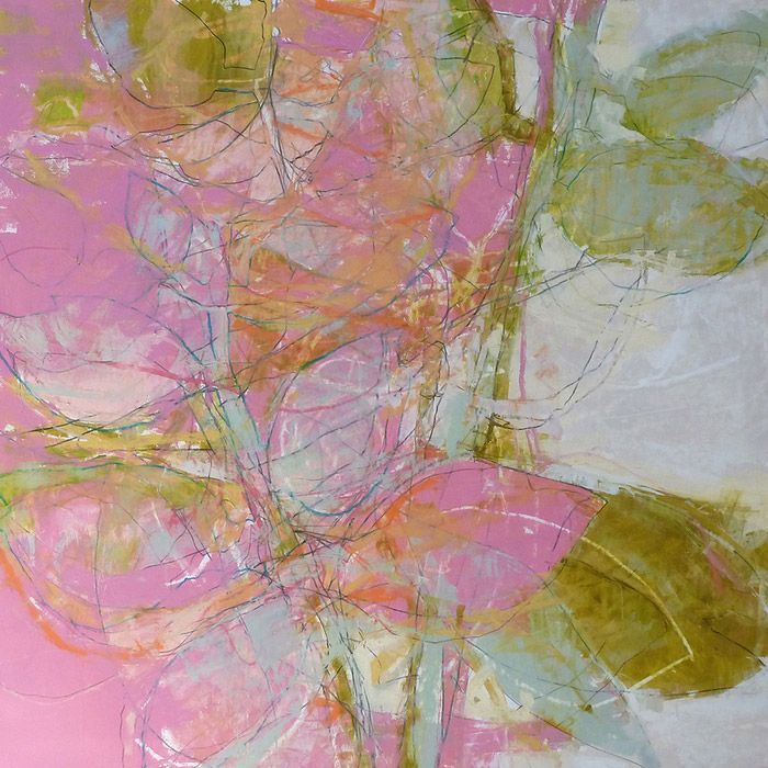 """John Wood TRANSPARENT IN THE SUN MIXED MEDIA ON PAPER ON PANEL W/ COLD WAX VARNISH 40.5"""" X 40"""""""