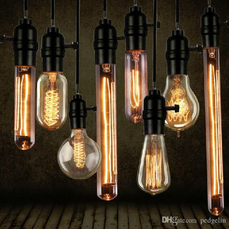 wholesale Vintage edison bulb Clear Glass Light Bulbs 40W E27 Bulbs  incandescent Silk Light bulb Indoor/Outdoor Decoration Retro lights