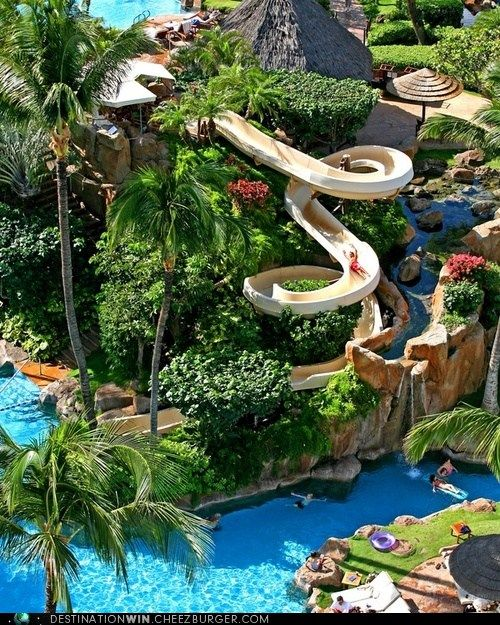 WHEEE!: Sliding at the Westin Maui Resort & Spa