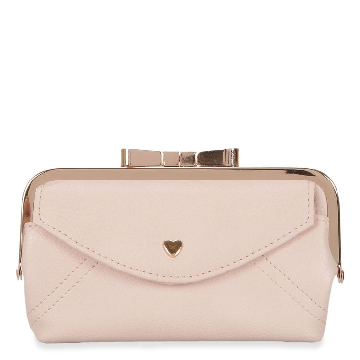 Give this petal pink Mia & Luca Heart and Bow Clutch this Valentine's Day.  So pretty!