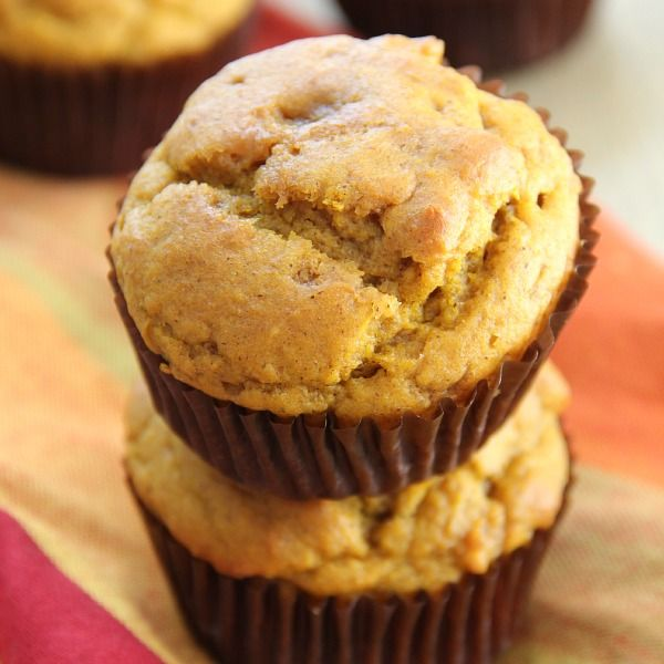 Easy Pumpkin Muffins - the perfect low-fat pumpkin muffin!