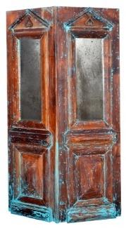Handpainted Vintage French Door Screen Room Divider