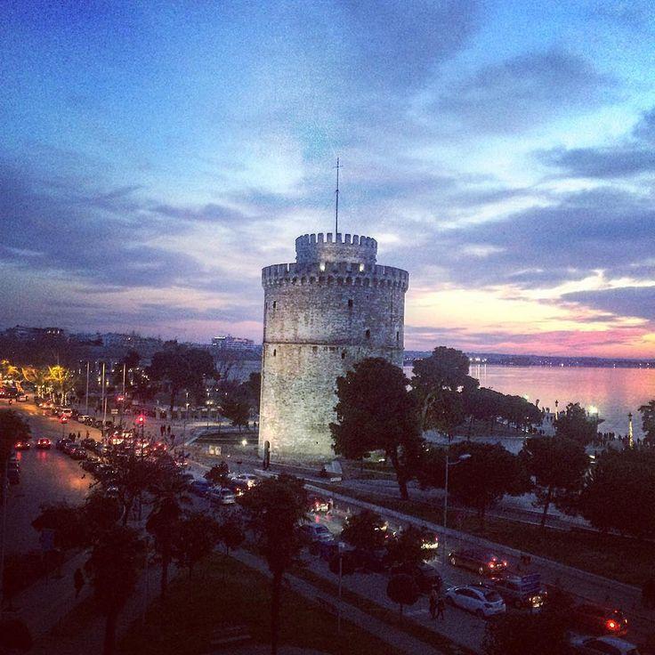 01.01.18 #thessaloniki #sunset