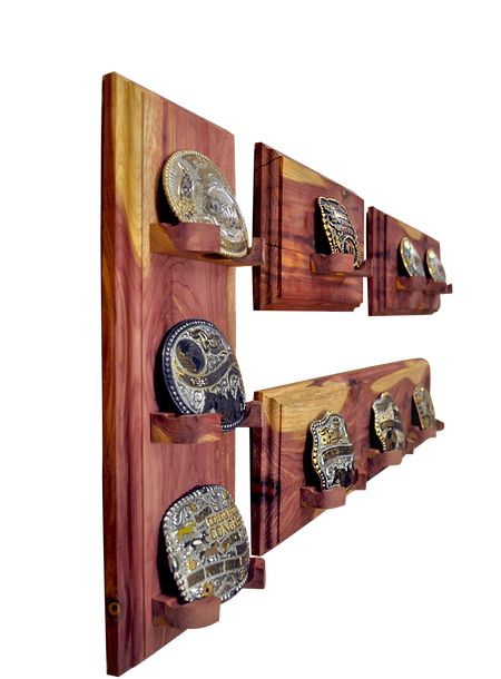 Do you show horses? Rodeo? In 4-H? Here is an affordable display rack for your trophy belt buckles!  Shop online at www.thebucklerack.com