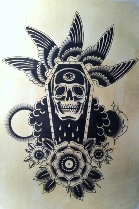 Tatuajes de ataúdes tradicionales                                                                                                                                                                                 Más