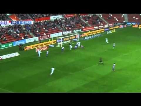 Спортинг Хихон 3- 3 Гранада, ИСПАНИЯ: Примера - Тур 8