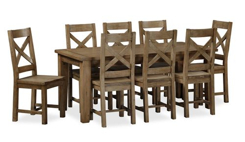 Cortona, Fixed Dining Set, with 8 Chairs