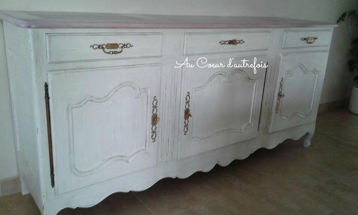 Enfilade patin couleur ficelle meubles patin s au for Meubles patines