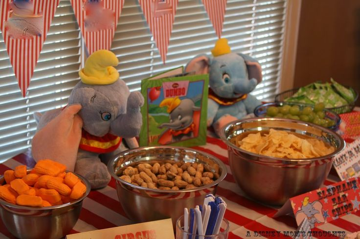 #Dumbo Birthday Party Decorations from A Disney Mom's Thoughts: decorations for the table, ceiling, food tents, banners and more! #Disney #Birthdayparty