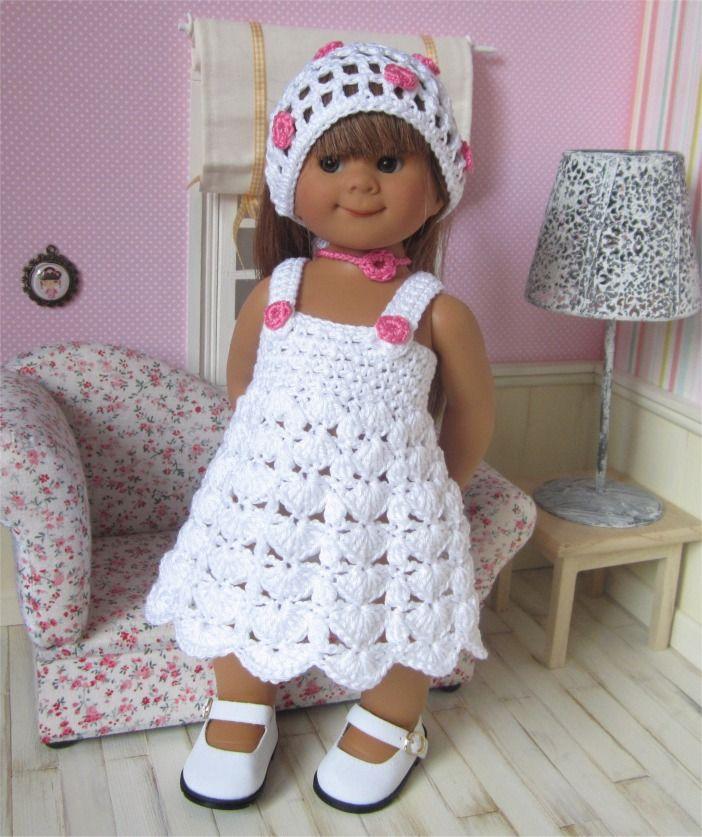 91- FICHE PATRON CROCHET Tenue Noëlia pour poupée Wichtel : Jeux, jouets par atelier-crochet