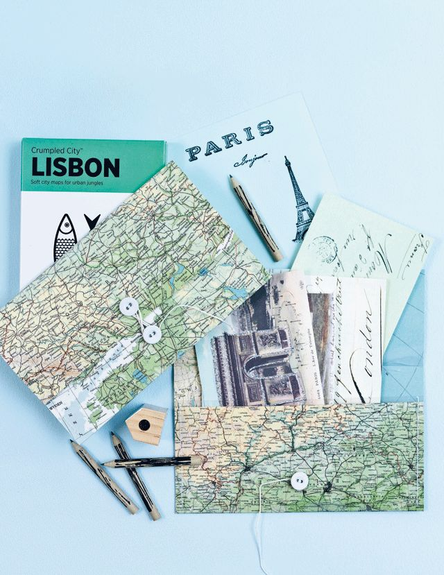 Reispapieren mapje - Travelpaper folder Kijk op www.101woonideeen.nl #tutorial #howto #diy #101woonideeen #reispapieren #travelpapers #folder