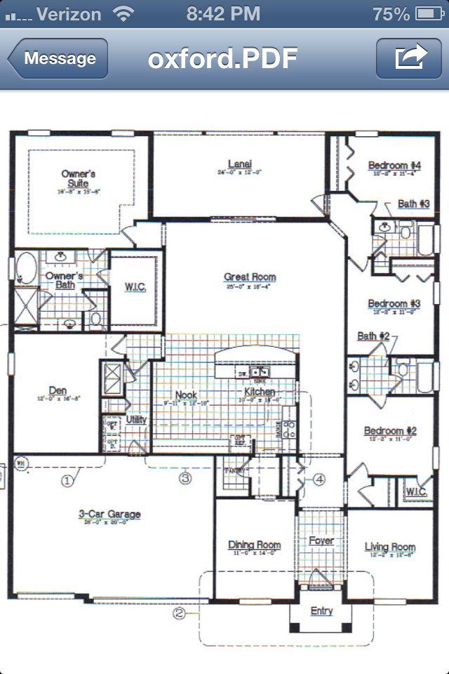 Floor plan oxford house plans photos pinterest for Oxford floor plan