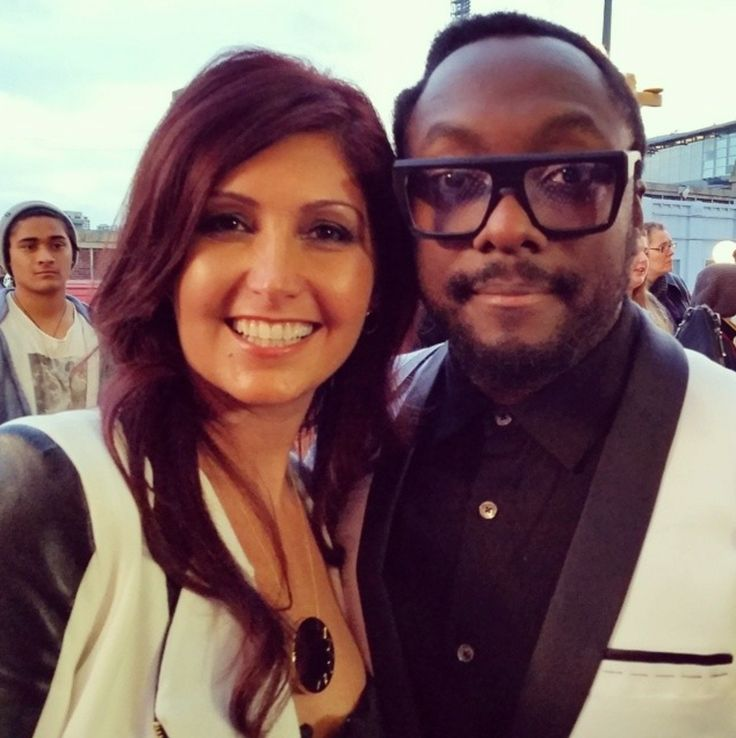 Will.i.am and myself on the red carpet at The Voice Australia Finals #thevoiceau #Teamvodafone #iamwill