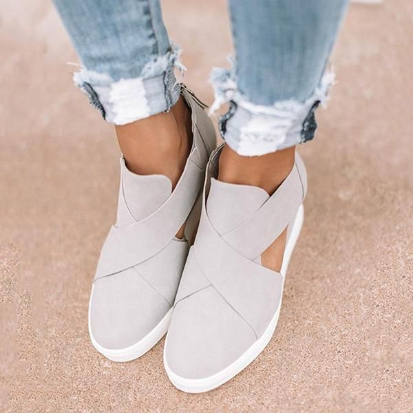 0b9fdb4654f Women Fashion Stylish Wedge Sneakers in 2019 | Cosysandals.com ...