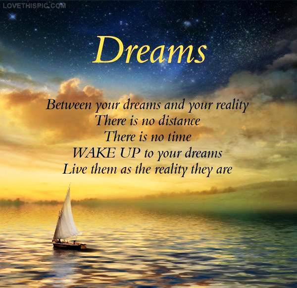 Dreams Life Quotes Positive Quotes Sunset Ocean Clouds