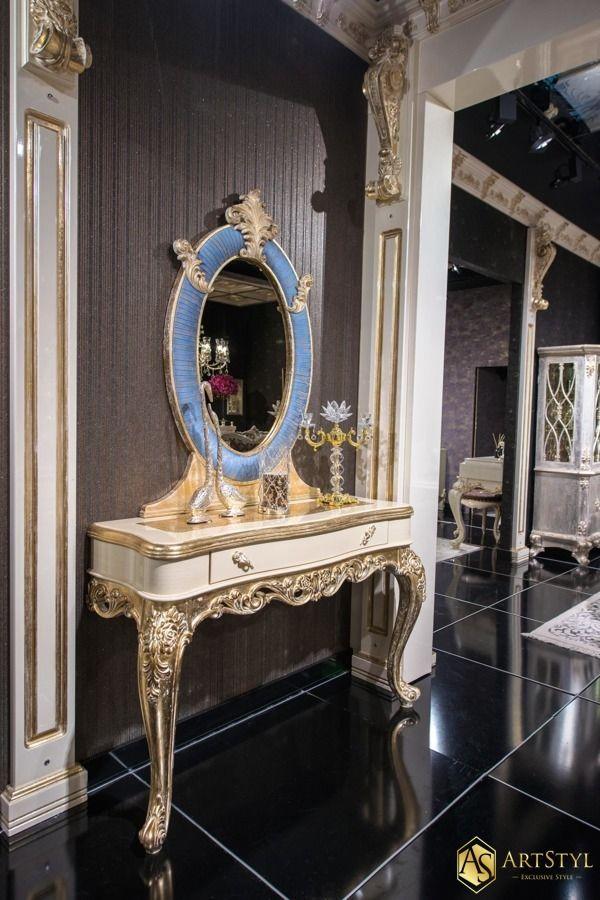 Stylowa konsola z lustrem Narrisa