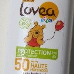 Beste zonnebrand voor baby's - Lovea Bio Spray Kids SPF 50 (Holland & Barrett)