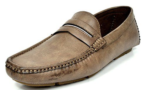 Bruno MARC MODA ITALY OAKLAND-01 Men's Classic On The Go Driving Casual Slip On Loafers Boat Moccasins Shoes COFFEE SIZE 10.5